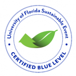 University of Florida sustainable event certified blue seal