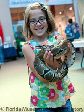 ButterflyFest, girl holding snake