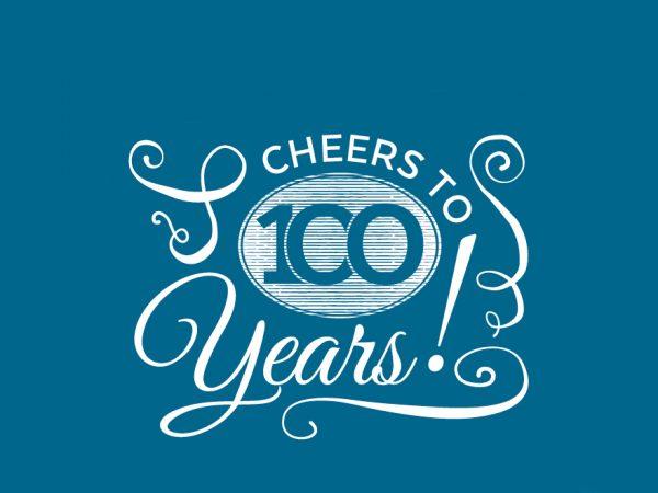 100 years birthday, half header