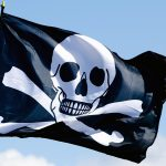 Pirate flag, half header