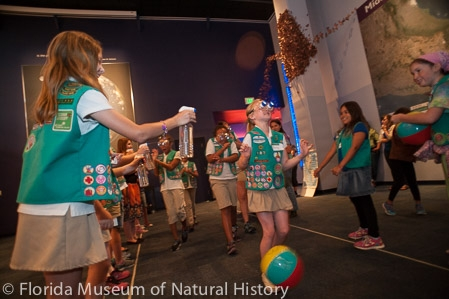 girls scouts participating in an activity