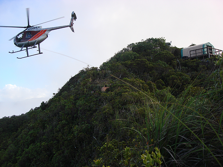 helicopter flying near base camp