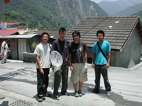 group photo of researchers in a Taiwanese village