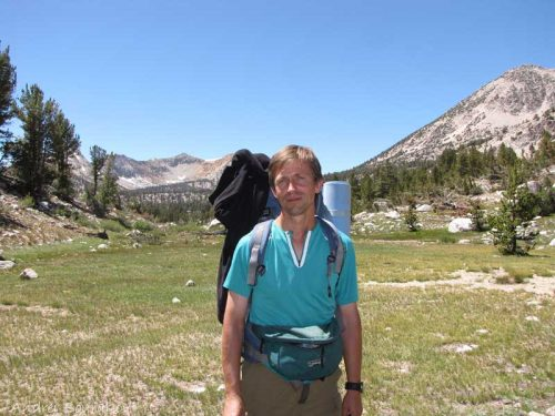 Andrei Sourakov hiking in California