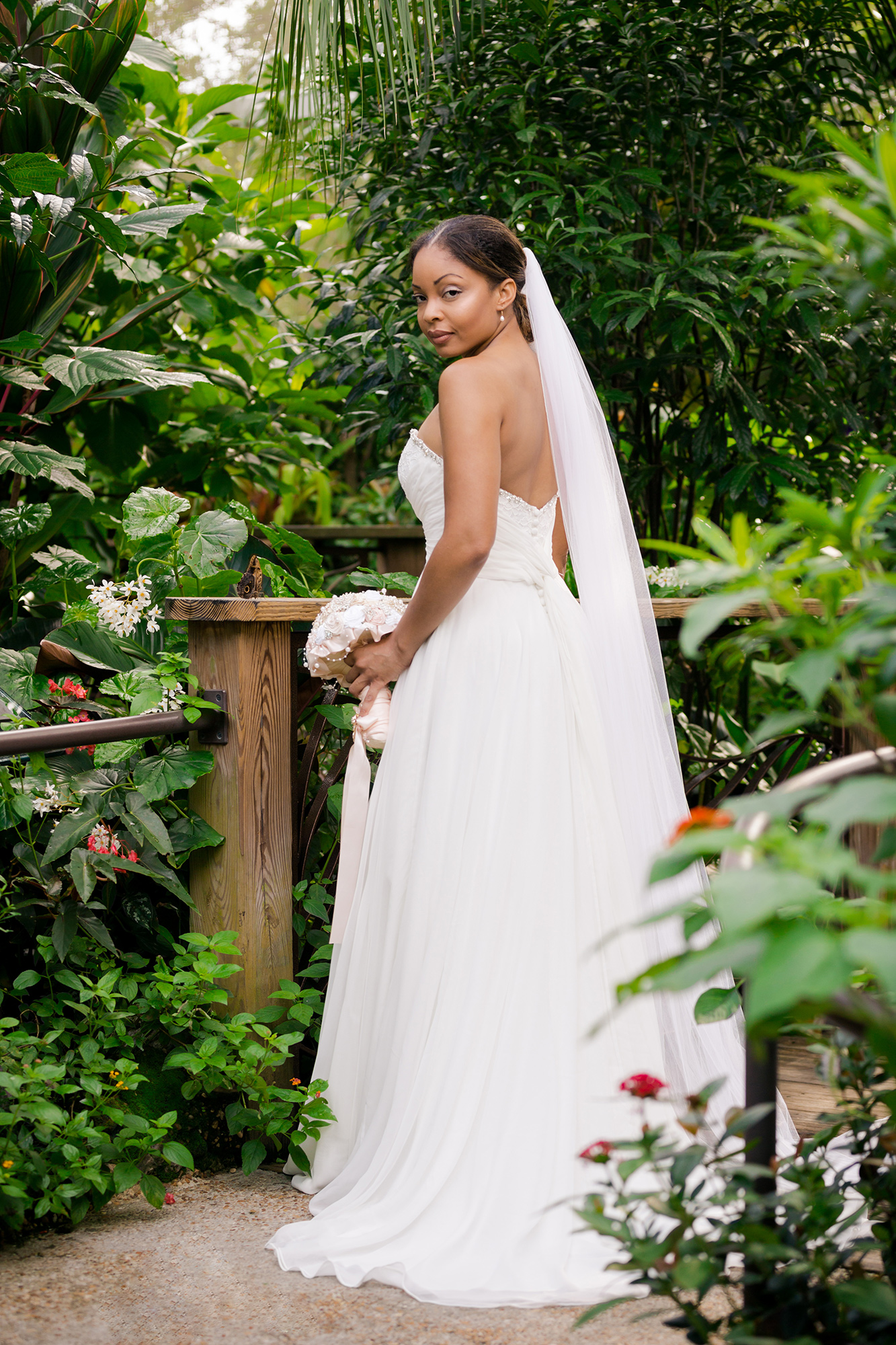 Wedding Dress Photo Shoot In The Erfly Rainforest By Indigo Co Photography