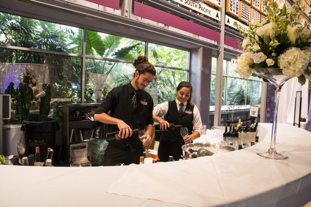 bartenders at Rainforest Desk