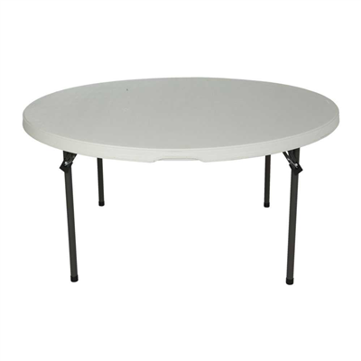 "60"" round table, white"