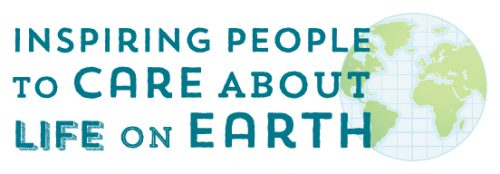 "Drawing of Earth with ""Inspiring People to Care About Life on Earth"""