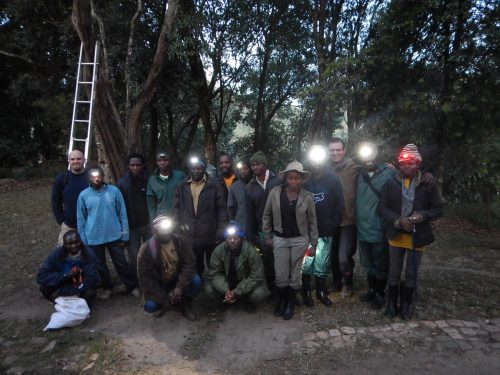 field team ready for a night of herping