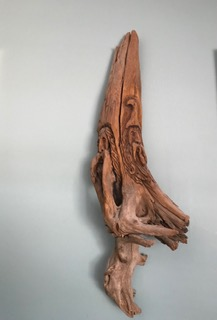 carved driftwood