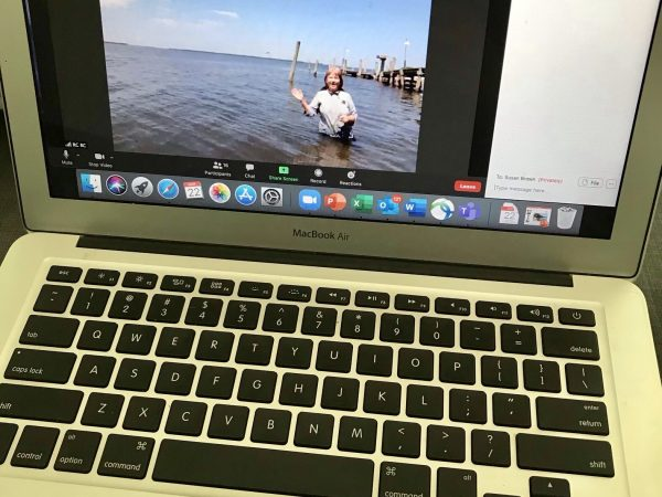 Computer screen with virtual field trip