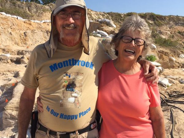 Carol and Bill Sewell at Montbrook dig site