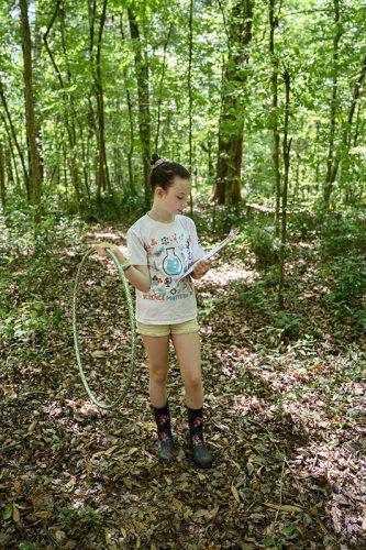 Girl Holding Hula Hoop