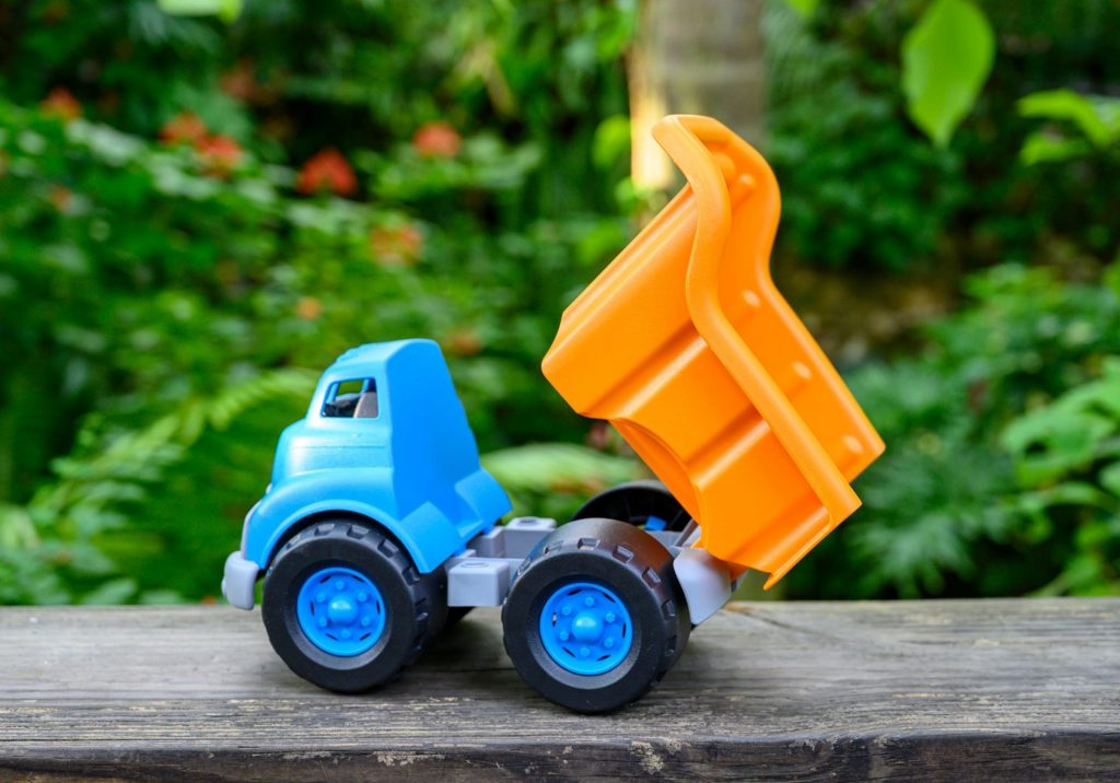 toy dump truck with