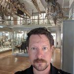Greg Jongsma in mammal exhibit gallery.
