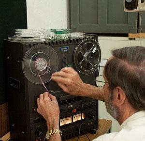 Webber sets up reel of bird sounds
