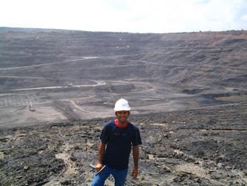 Herrera at fossil site