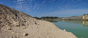 looking in the quarry for fossils