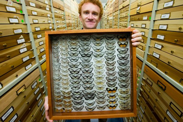 Keith Wilmot with collections box