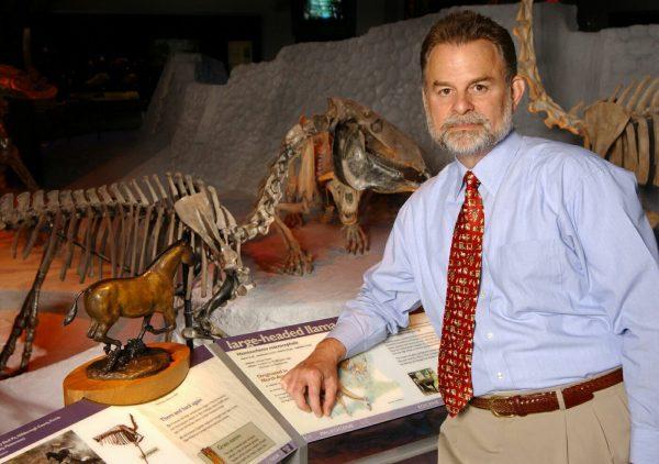 Bruce MacFadden in fossil hall