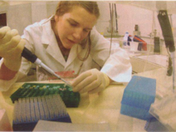 Haas preparing samples