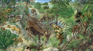 illustration of late miocene