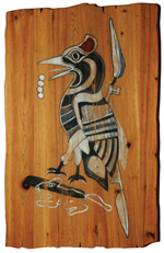 new plaque with drawing of ivory-billed woodpecker