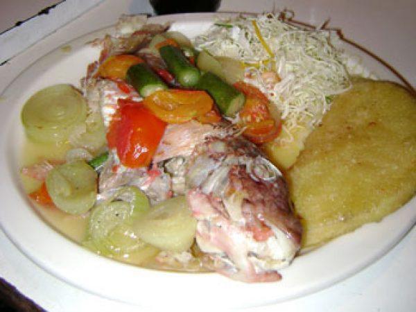 parrot fish dinner