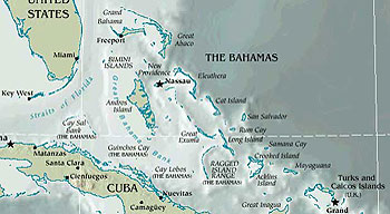 Map of Caribbean
