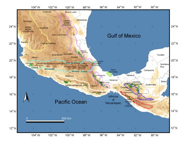 Map of northern Mesoamerica