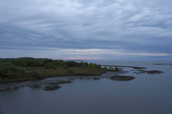 cloudy sunset at Cedar Key