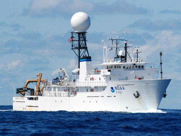 large white ship