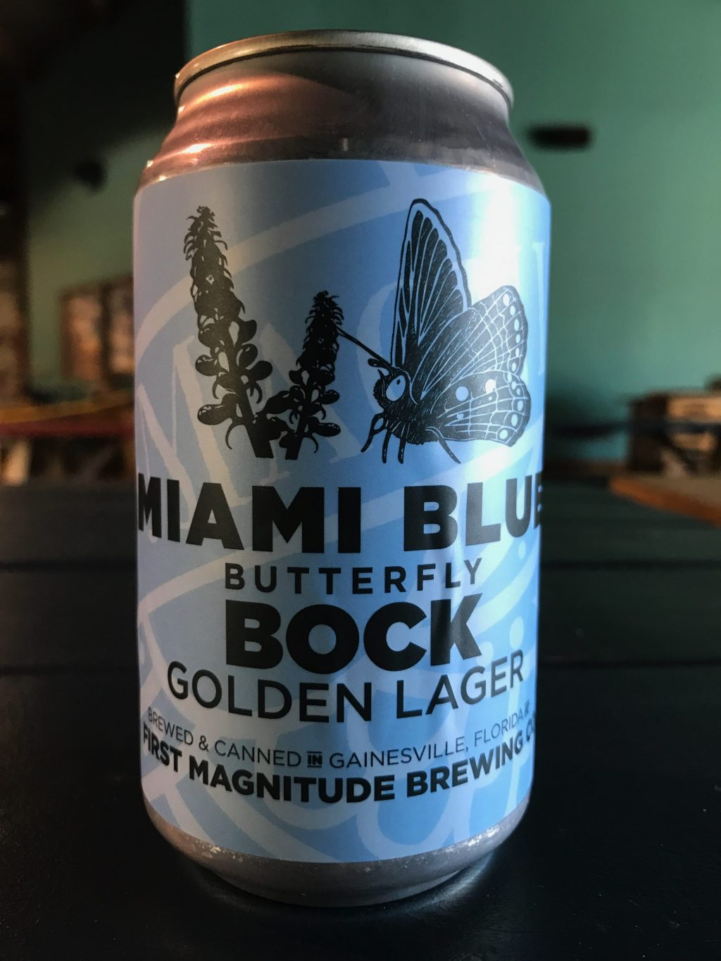 can of Miami Blue Bock beer