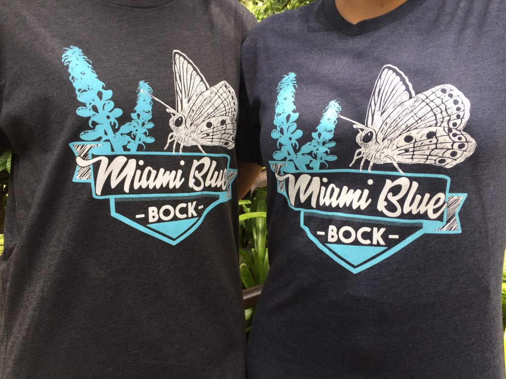 T-shirts with Miami Blue Bock logo
