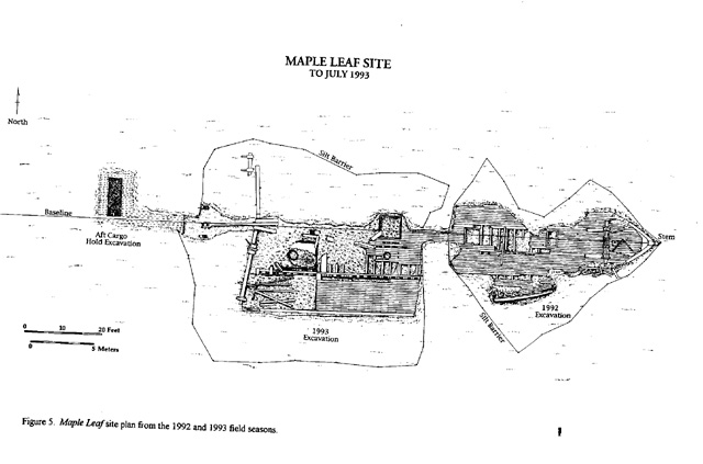 map of wreck illustration
