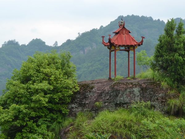temple structure in mountains