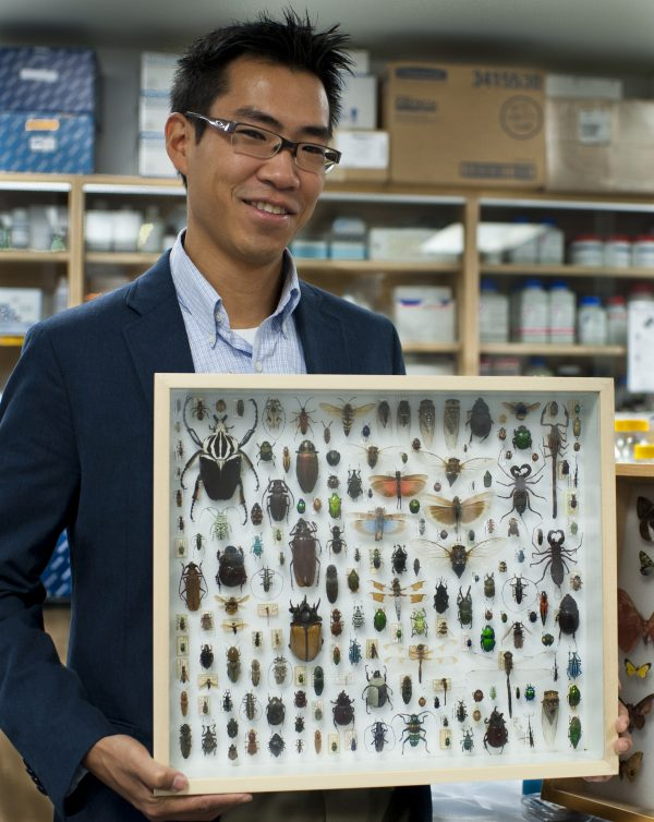 Akito Kawahara with specimen case