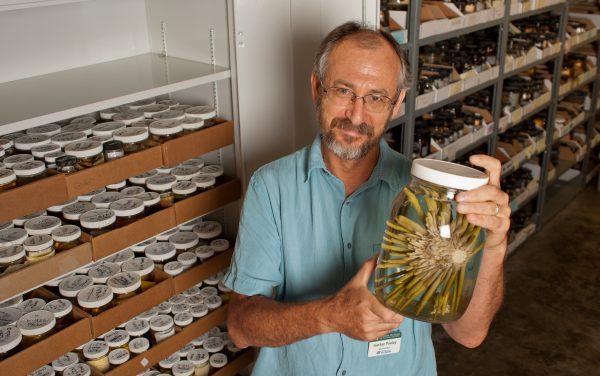Gustav holding jar