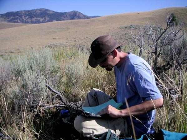 Miller working in the field