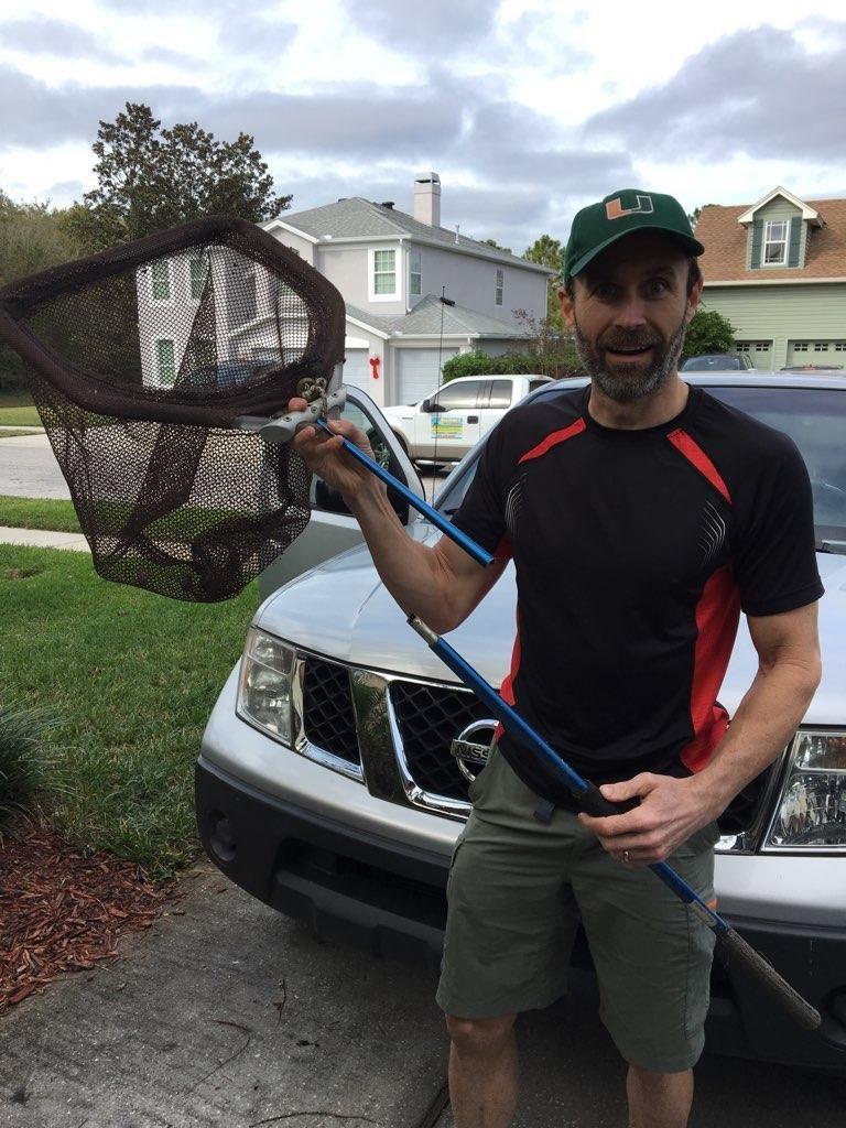 man holding a net