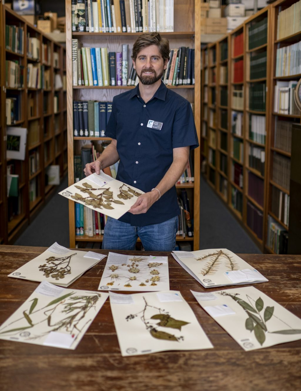 Majure and collected specimens.