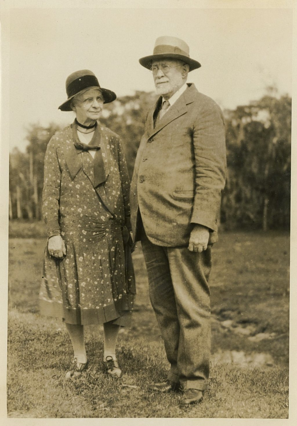 A photo of Fernald and her husband