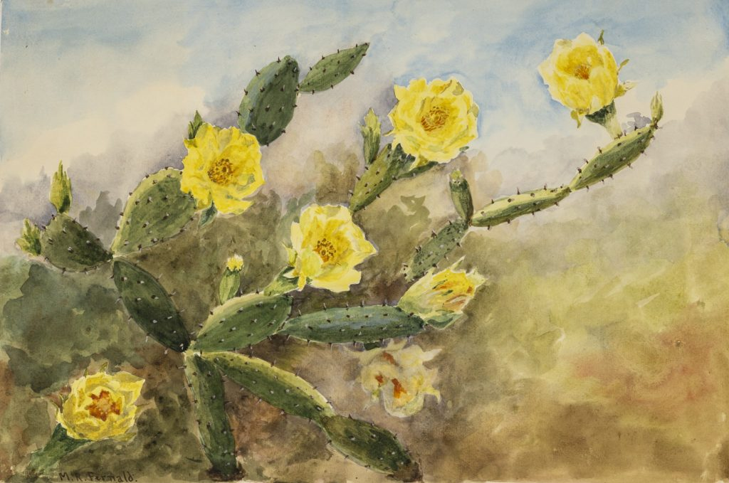 Colorful watercolor painting of yellow flowers