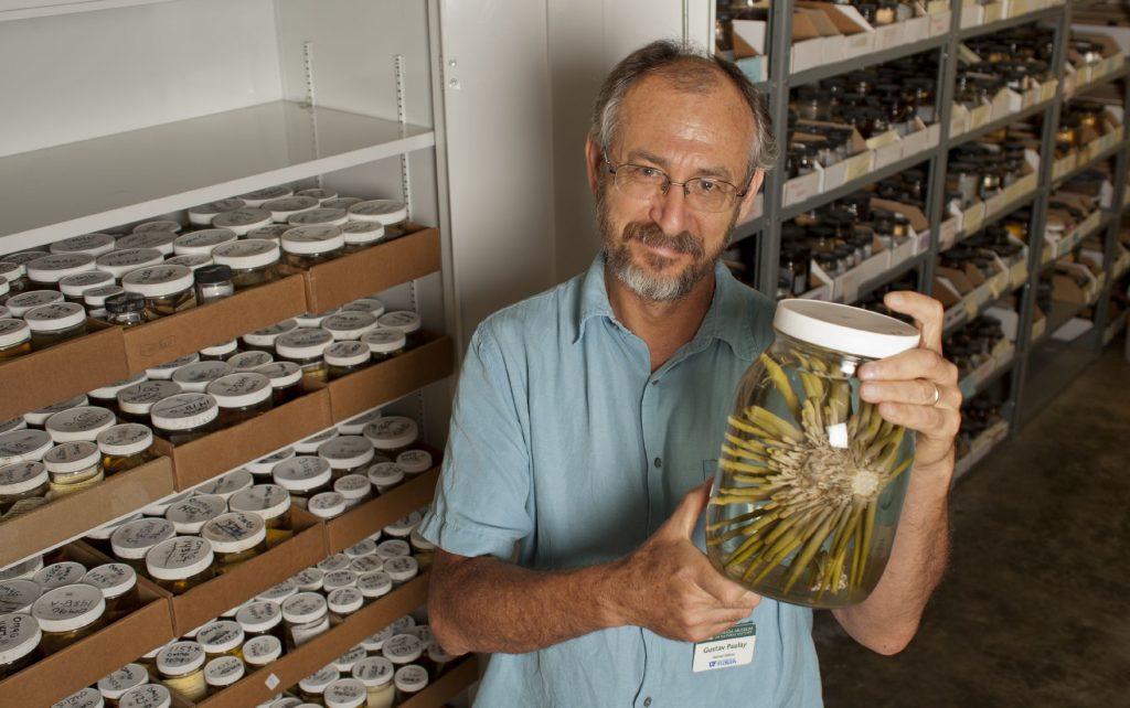 Gustav holding a specimen jar