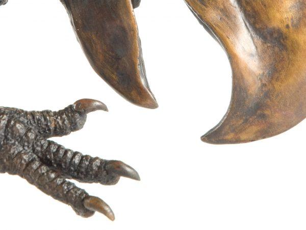 foot and beak of terror bird statue
