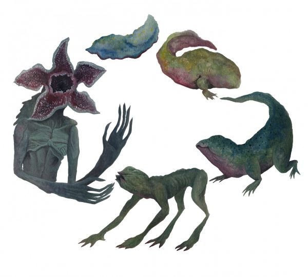 illustration showing the life cycle of the Demogorgon