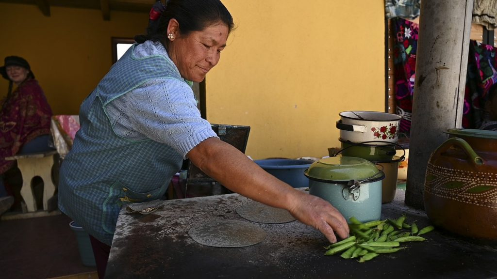 woman with tortillas