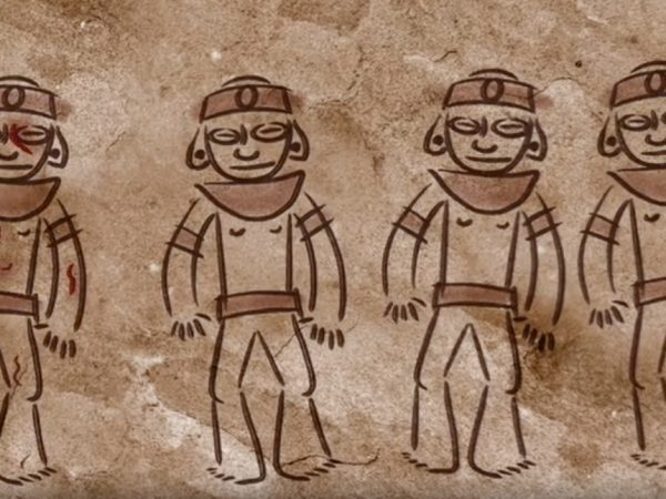 animation of four Taíno brothers