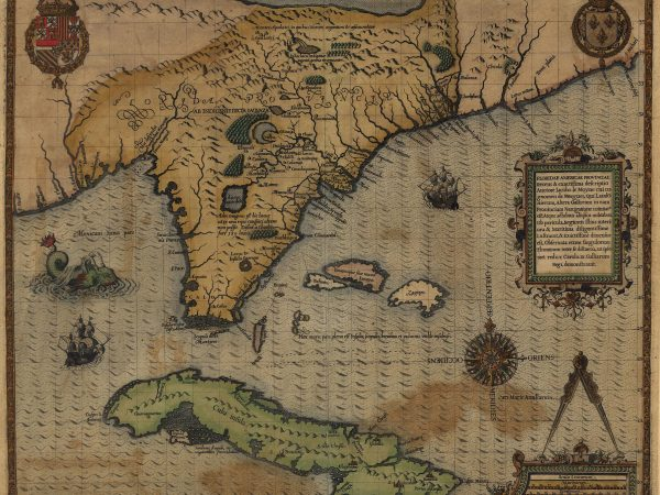 16th century map of Spanish Florida and Cuba