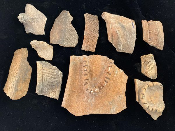fragments of pottery